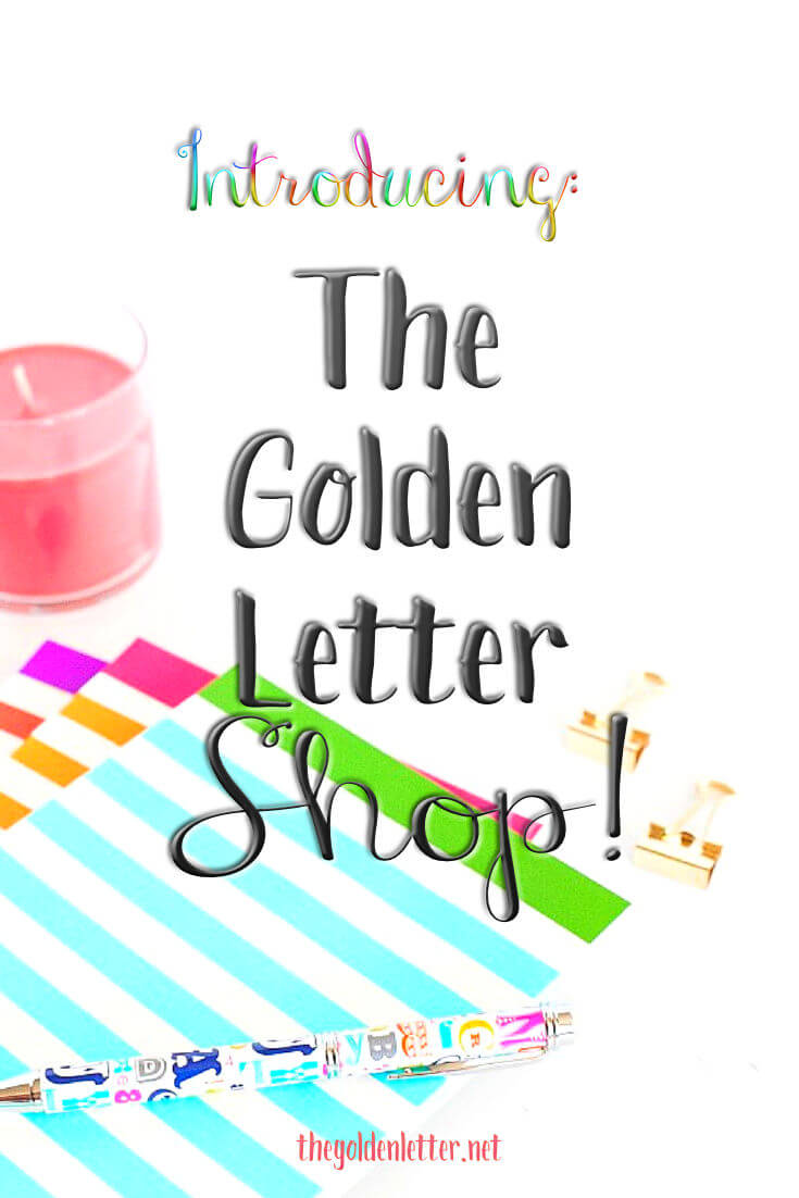 The Golden Letter SHOP!