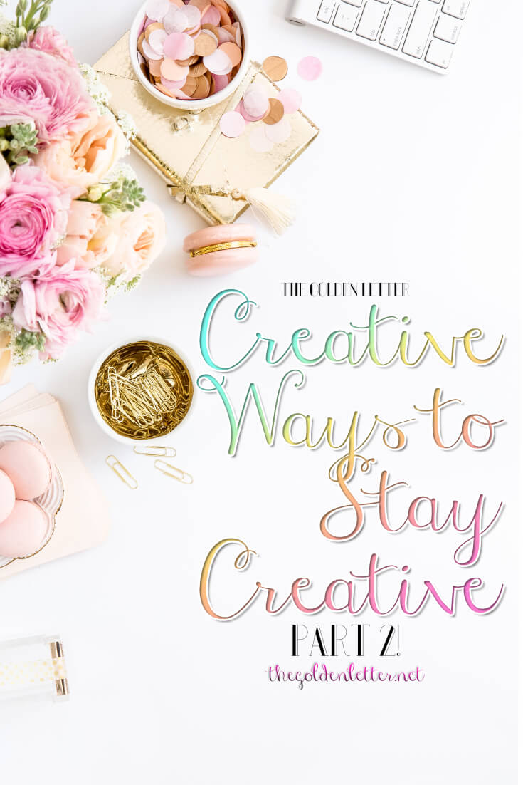 Creative ways to stay creative part TWO! If you're looking for some projects to do this summer, look no further here you'll find a collection of writing prompts, drawing and painting ideas and plenty of ways you can flex those creative muscles and beat that creative block.