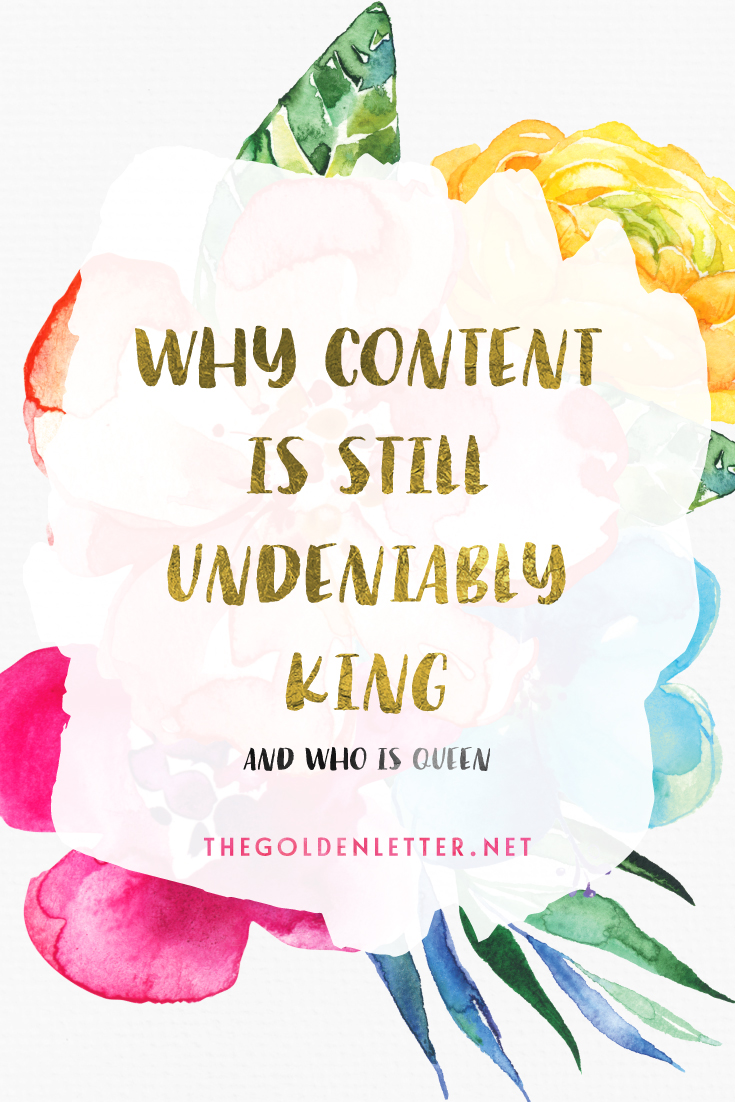 You can spin it any way you want it, but the truth of the matter is that content is still - undeniably and irrevocably - KING. But what is the QUEEN?